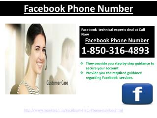 Facebook Phone Number: A reasonable approach to evacuate Facebook glitches call 1-850-316-4893