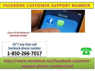 Describe any problem for Facebook phone number 1-850-266-7017