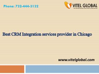 Best CRM Integration services provider in Chicago