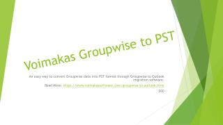 Groupwise to Outlook Migration