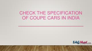 Best Coupe Cars in India