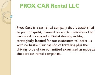Dubai Luxury Car Rental