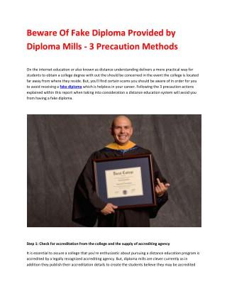 Fake Diplomas, Degrees and Transcripts - Review