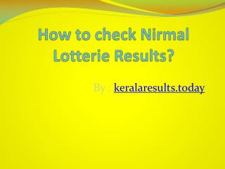 How to check Nirmal Lotterie Results