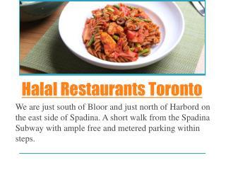 Halal restaurants toronto