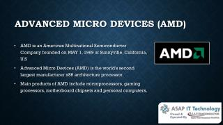 Trusted AMD Computer Hardware Parts Supplier and Distributor- ASAP IT Technology