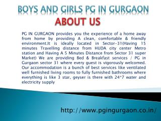 PG Sector 31 Gurgaon