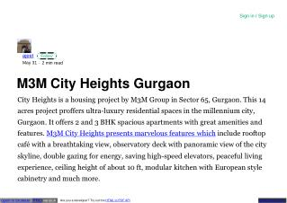M3M sector 65 gurgaon