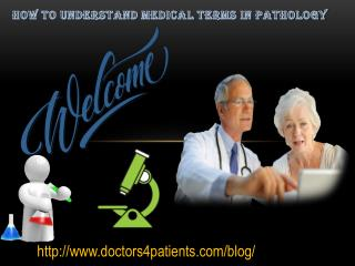 how to understand medical terms in pathology