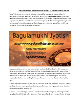 Now, Remove your unhappiness from your life by powerful religious Kavach