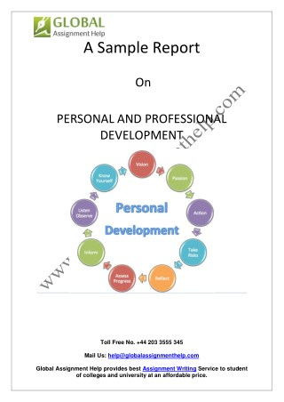 Sample On Personal and Professional Development By Global Assignment Help