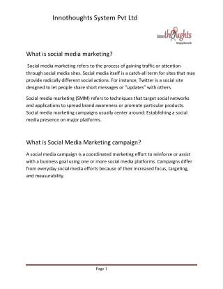 Social Media Marketing strategies|Innothoughts System Pvt Ltd