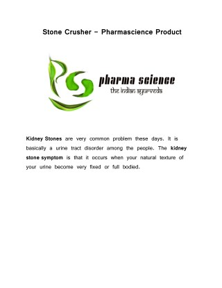 Pharmascience medicine Stone Crusher for  Kidney stones