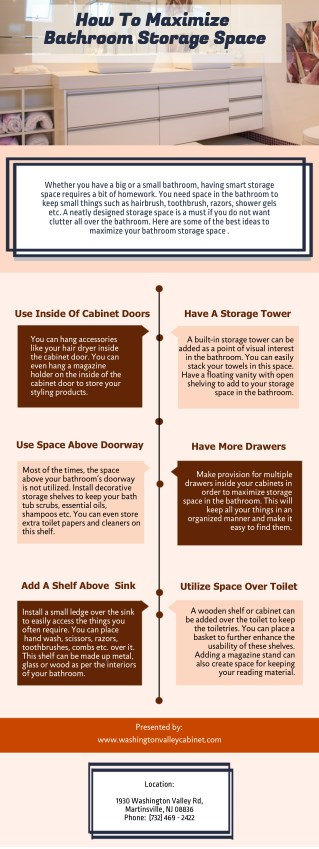 How To Maximize Bathroom Storage Space