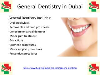 General dentistry (dental clinic treatment) in dubai uae Karama Burjuman