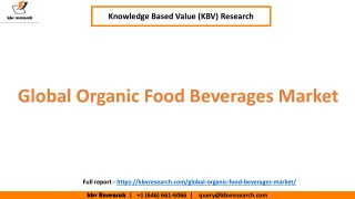 Global Organic Food & Beverages Market Growth and market Trends