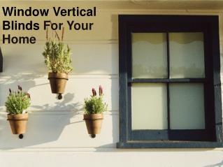 Window Verticle Blinds