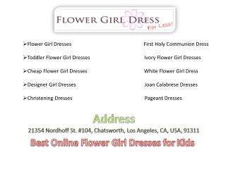 Best Online Flower Girl Dresses for Kids