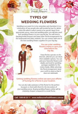 Types of Wedding Flowers – Melbourne Fresh Flowers