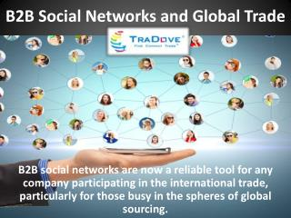 B2B Social Networks and Global Trade