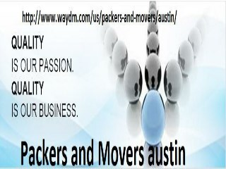 Packers and Movers  austin