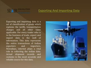 Why Exporting And Importing Data Important For Business?