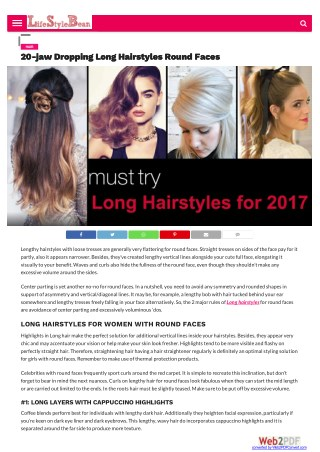 20-jaw Dropping Long Hairstyles Round Faces