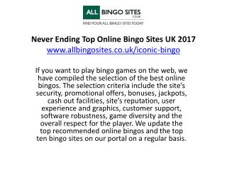 Never Ending Top Online Bingo Sites UK 2017