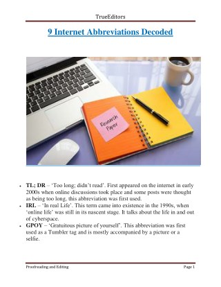 9 Internet Abbreviations Decoded | TrueEditors
