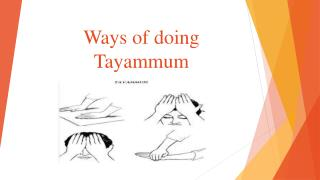 Ways of doing Tayammum