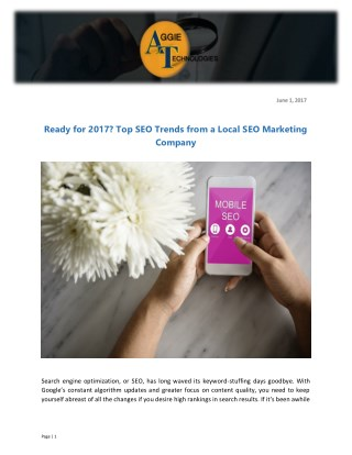 Ready for 2017? Top SEO Trends from a Local SEO Marketing Company