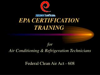 EPA CERTIFICATION   TRAINING