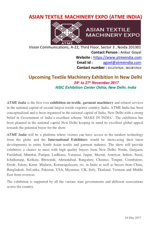 Exhibition In Delhi | Exhibition In India 2017