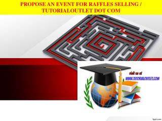 PROPOSE AN EVENT FOR RAFFLES SELLING / TUTORIALOUTLET DOT COM