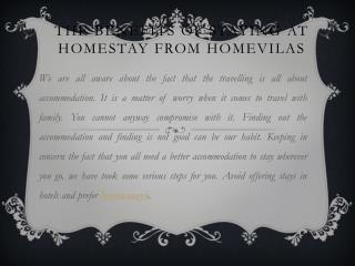 The Benefits of Staying At Homestay from Homevilas