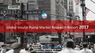 Global Insulin Pump Market Research Report 2017