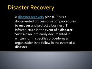 Cloud Disaster Recovery | Platform that reduces recovery time