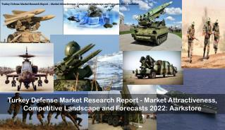 Turkey Defense Market Research Report - Market Attractiveness, Competitive Landscape and Forecasts 2022: Aarkstore