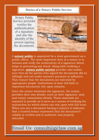 Duties of a Notary Public Service