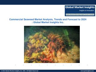 Commercial Seaweed Market drivers of growth analyzed in a new research report