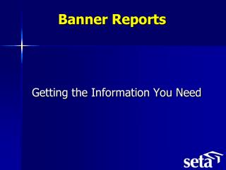 Banner Reports