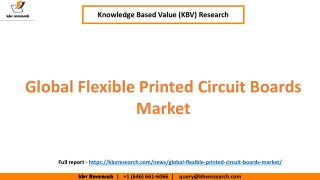 Global Flexible Printed Circuit Boards Market Growth and market Share