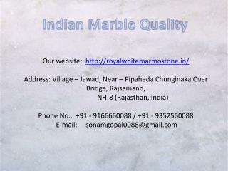 Indian Marble Quality