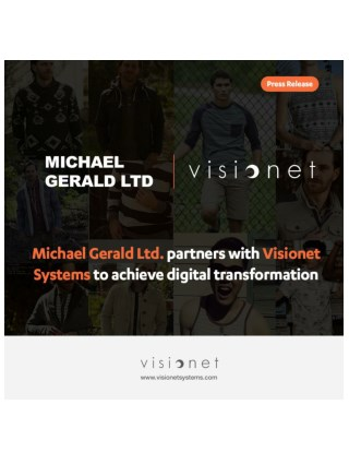 Michael Gerald Ltd. partners with Visionet Systems to achieve digital transformation