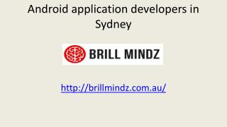 Best Android app development comoany in australia