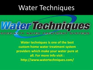 Architecturally Designed Water Treatment Systems