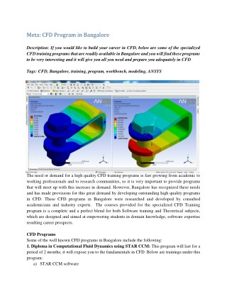Ansys CFX Certification