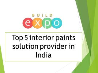 Interior Wall Paint Solution Provider in India