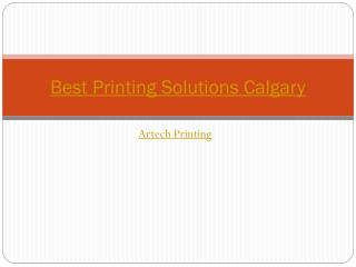 Best printing solutions calgary