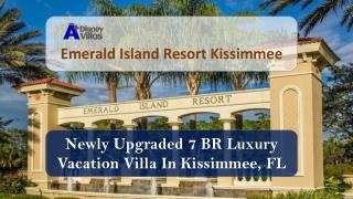 This 7BR beautiful Vacation Villa is locted in Emerald island resort, kissimmee, Orlando, FL. Emerald Island is a 5-star